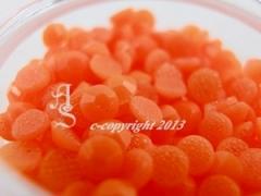 360 Hotfix Epoxy Steine zum aufbügeln Neon Orange SS10
