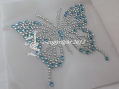 Hotfix Bügelmotive Strasssteine Schmetterling Butterfly 130607