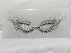 Strass Bügelbild Maske Fasching Karneval Venedig Crystal-Gold 13