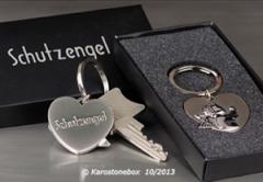 hochwertiger Schlüsselanhänger Schlüsselring Schutzengel 40396-8