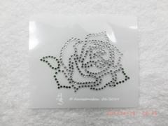 Bügelbild Applikation Strass Rose Shirt Crystal / Grün 121129