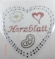 Hotfix Bügelbild Strass Herz Oktoberfest  Herzblatt  Dirndl Wiesn 130820
