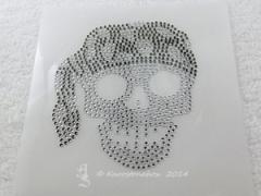 Hotfix Strass Bügelbild Pirat Totenkopf Black Diamond/Crystal 140418