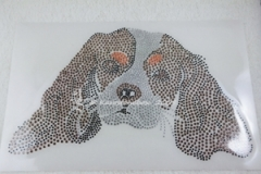 Hotfix Strass Bügelbild Hund Cavalier King Charles Spaniel Tricolor 130909