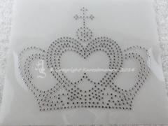 Hotfix Strass Bügelbild Glas Krone klein zur Farbwahl 141006