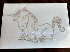 Hotfix Bügelbild süßes kleines Einhorn Unicorn Strass 130824