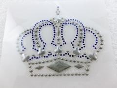 Bügelbild Tolle Krone Farbwahl Strass - rot/crystal oder cobalblau 130905