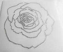 Glas Applikation Bügelbild Tolle Rose 180828