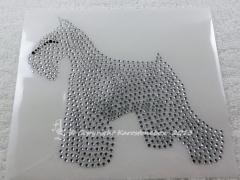 Bügelbild Hund Schnauzer Crystal 130826