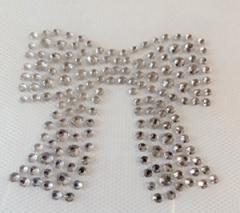 Bügelbild Strass Schleife klein Crystal 181214