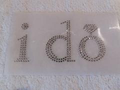 I Do  Hotfix Bügelbild Strass groß Hochzeit 181229 Crystal