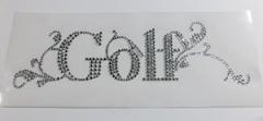 Hotfix Strass Bügelbild Schriftzug  Golf  110113