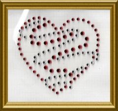 hübsches Strass Herz 100405-08sf