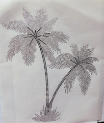 Strass Bügelbild   schöne große Palme