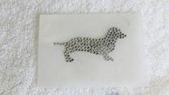 Hotfix Strass Bügelbild Bügelmotiv Hund Tekel Dackel 170202
