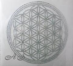 Hotfix Strass Bügelbild Blume des Lebens Yoga 140115 Crystal