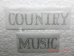 Strass Bügelbild Western  Country Music  Farbwahl 110902