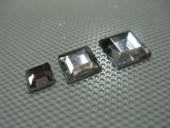 Acryl Strasssteine Quadrat Kristallklar 6x6 mm