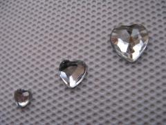 Acryl Strasssteine Herz Kristall 4x4 mm